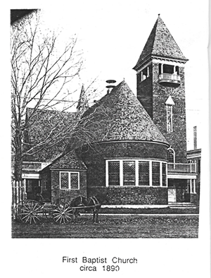 First Baptist Church in Westbrook Maine 1890